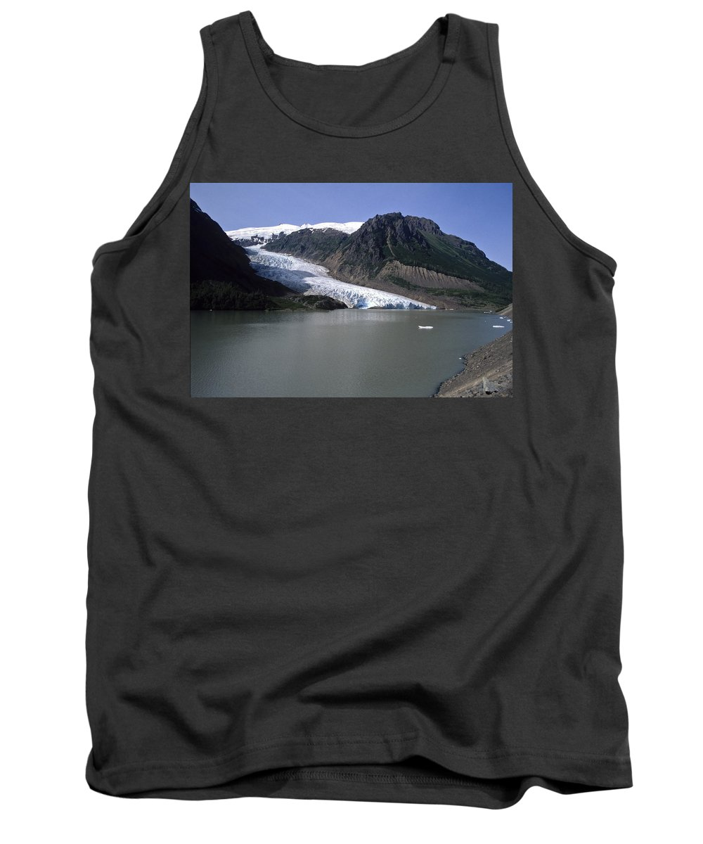 Americas Tank Top featuring the photograph Bear Glacier by Roderick Bley