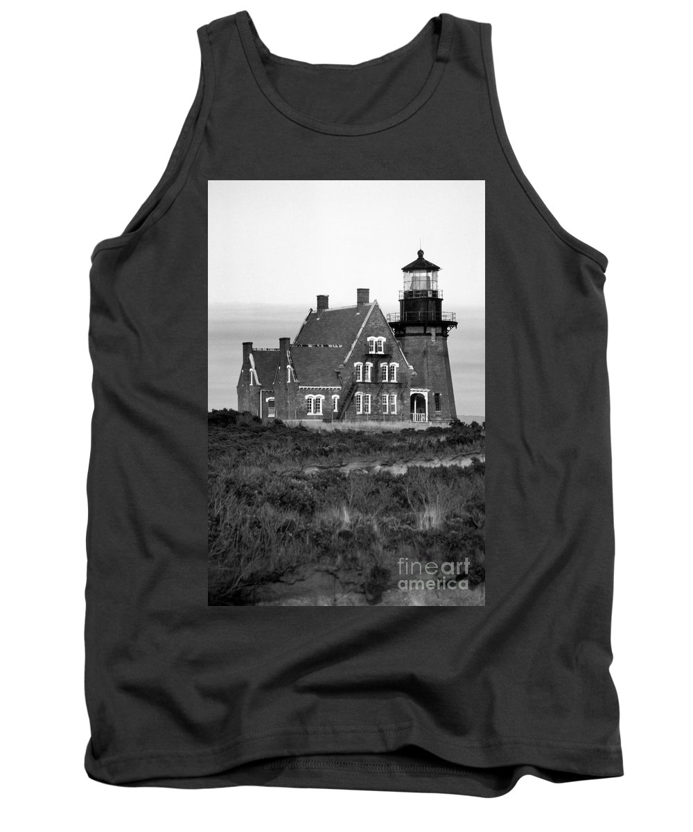 Lighthouses Tank Top featuring the photograph Block Island Southeast by Skip Willits