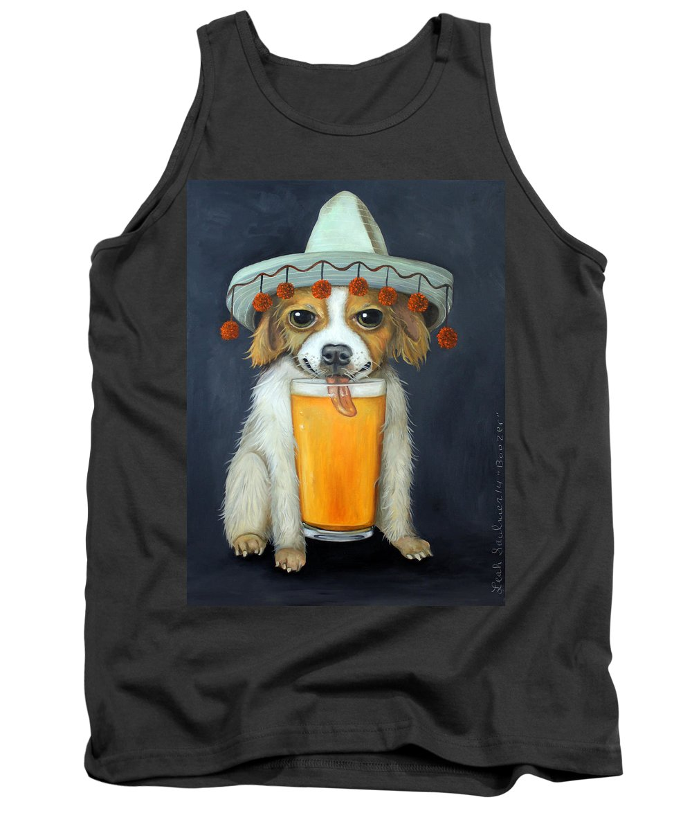 Boozer Tank Top featuring the painting Boozer by Leah Saulnier The Painting Maniac