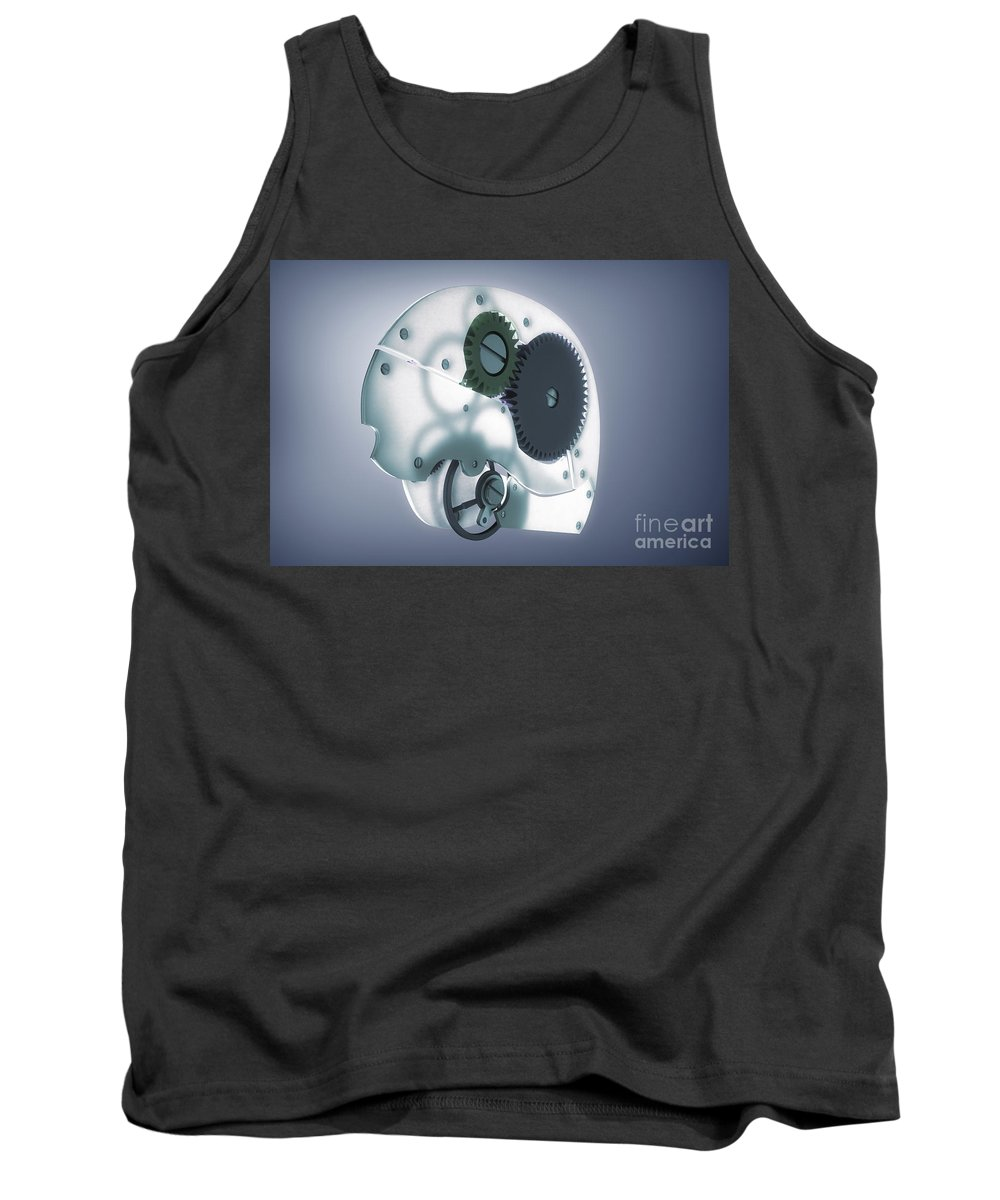 3d Visualisation Tank Top featuring the photograph Brain Mechanism by Science Picture Co