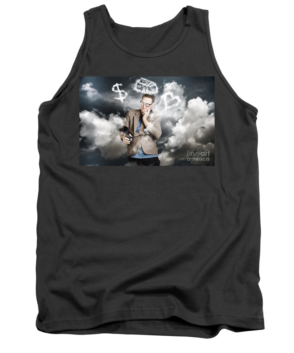 Life Tank Top featuring the photograph Business Man Planning Work Life Balance Strategy by Jorgo Photography - Wall Art Gallery