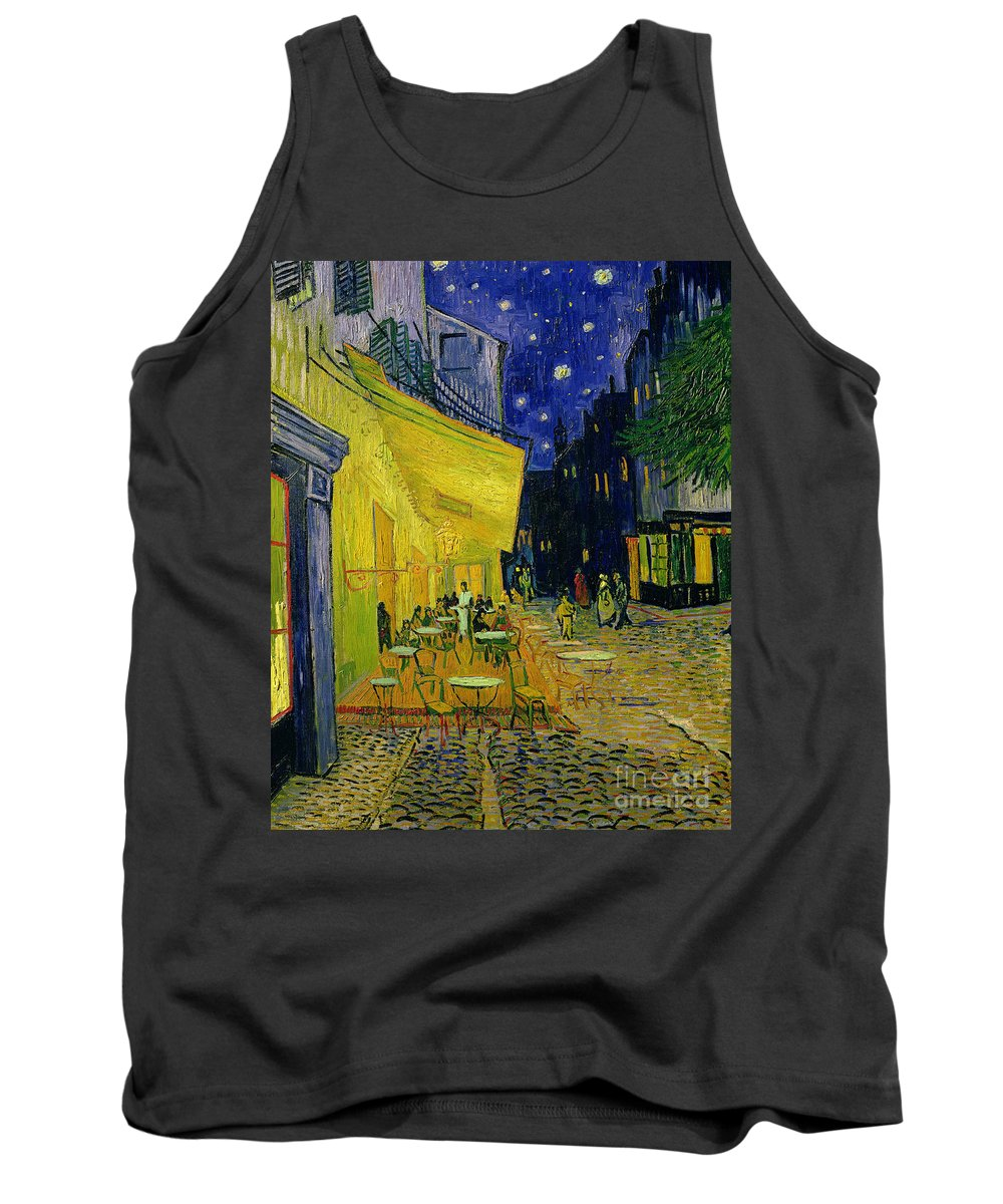 Cafe Terrace Tank Top featuring the painting Cafe Terrace Arles by Vincent van Gogh
