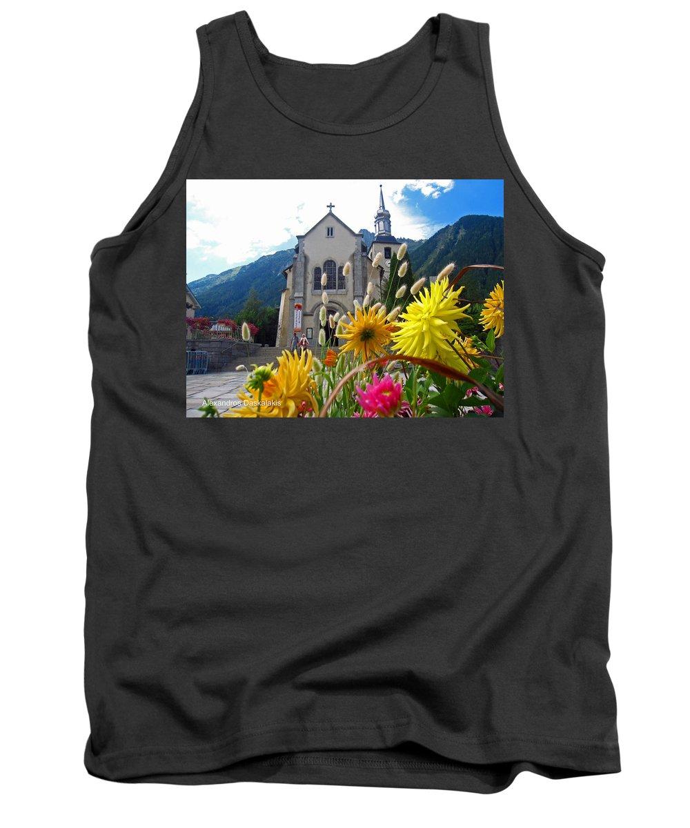 Alexandros Daskalakischamonix Church Tank Top featuring the photograph Chamonix Church by Alexandros Daskalakis