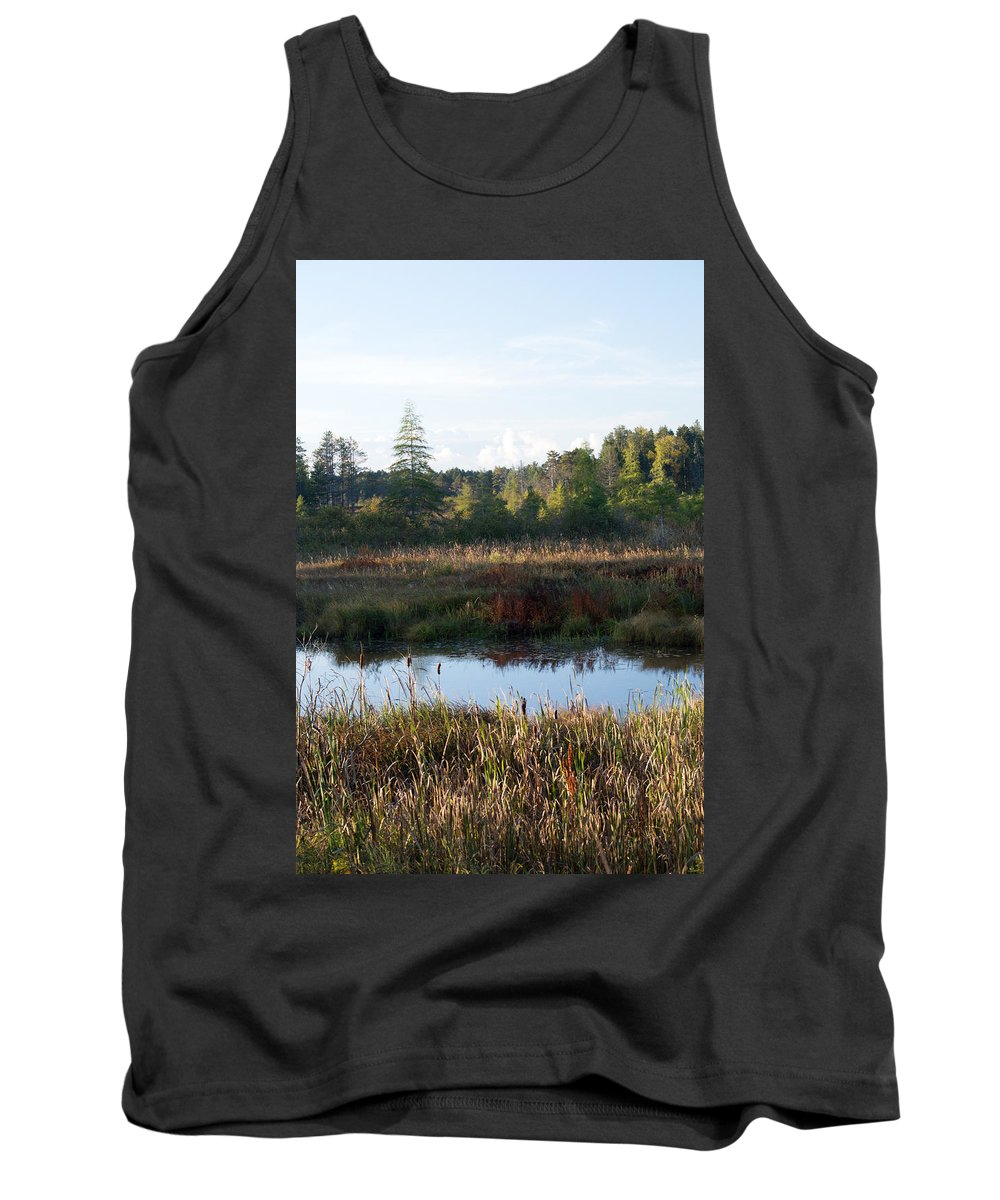 Wetland Tank Top featuring the photograph Chill In The Air by Linda Kerkau