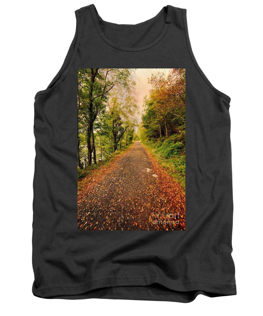 Hdr Tank Top featuring the photograph Country Lane by Adrian Evans