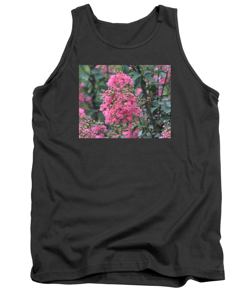 Pink Crepe Myrtle Blossom Prints Tank Top featuring the photograph Crepe Myrtle Blossoms by Ruth Housley