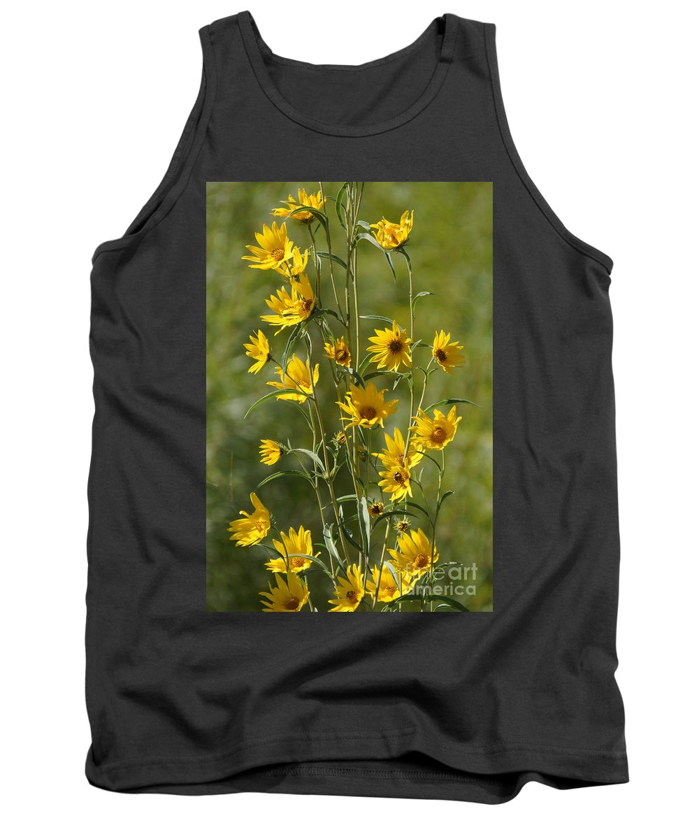 Yellow Tank Top featuring the photograph Dancing In The Wind by Lori Tordsen