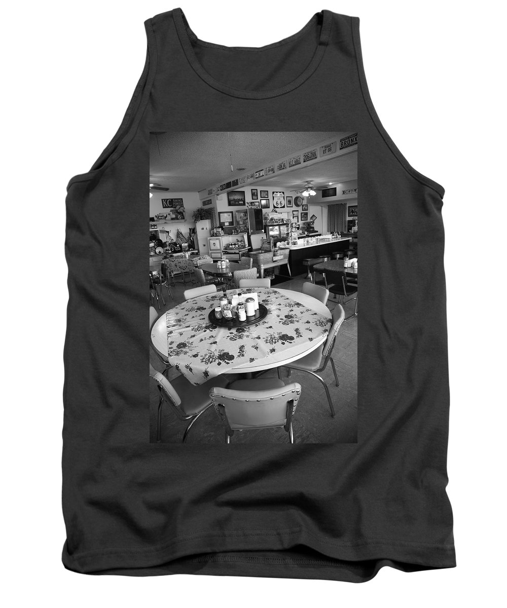 66 Tank Top featuring the photograph Diner On Route 66 by Frank Romeo