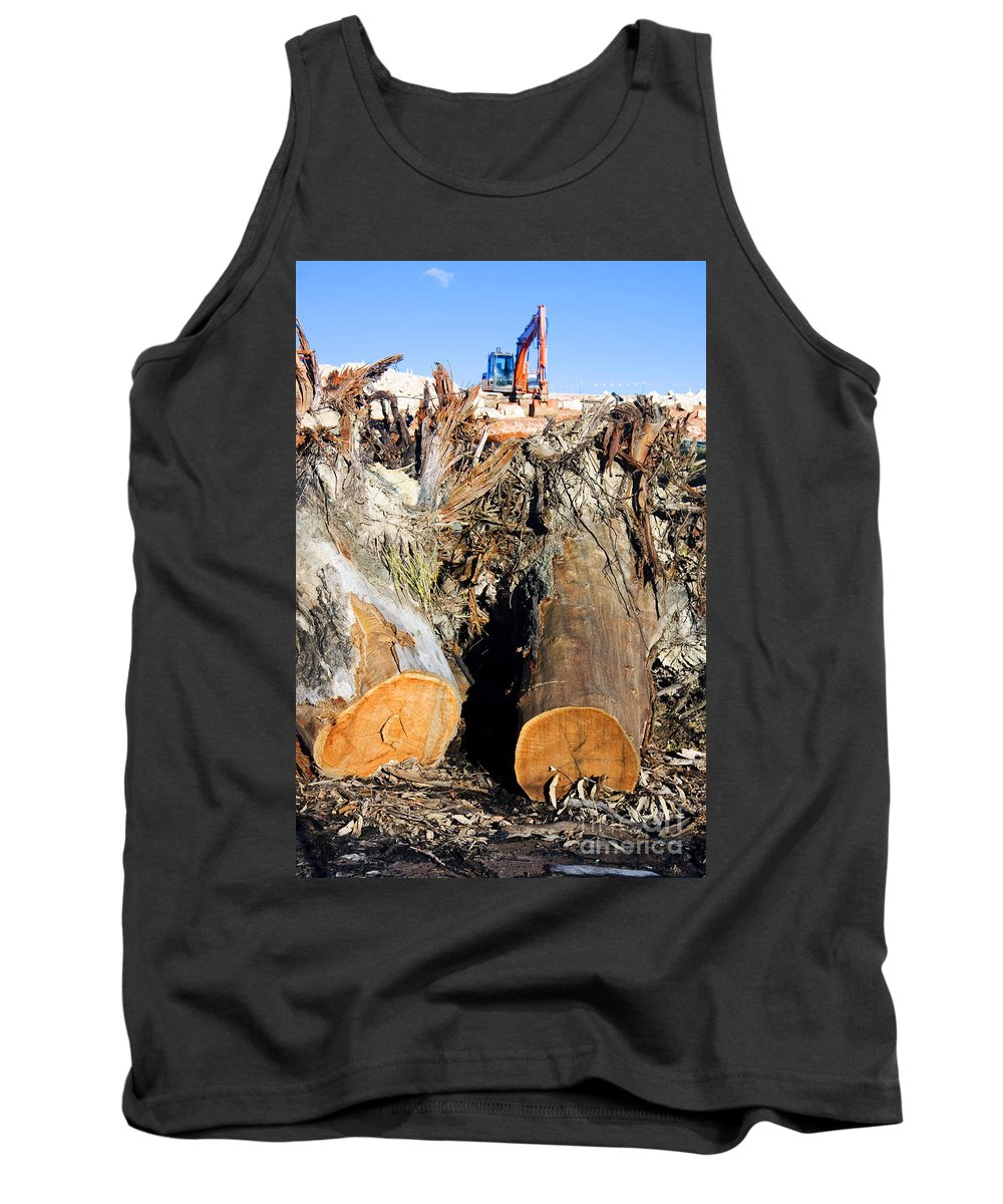 Australia Tank Top featuring the photograph Environmental Destruction In Construction by Jorgo Photography - Wall Art Gallery