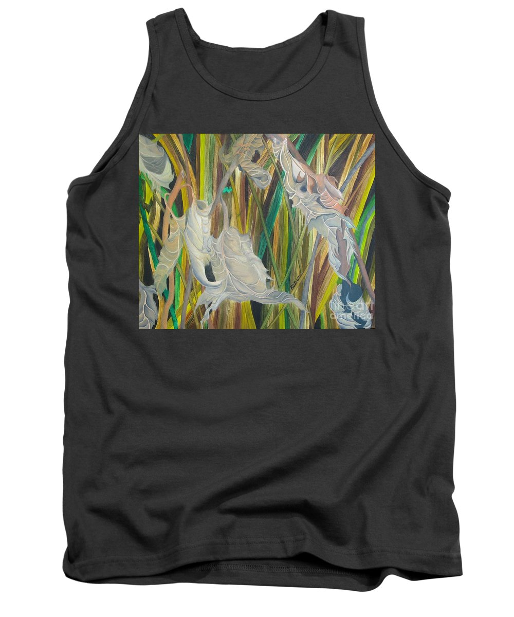 Tank Top featuring the painting Fall Leafs Won by Richard Dotson