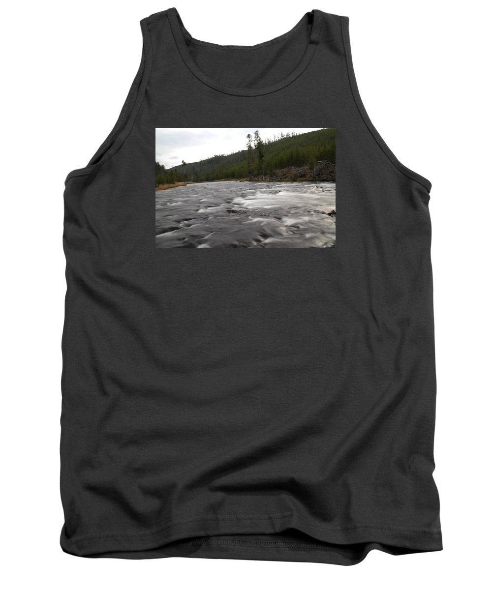 Rivers Tank Top featuring the photograph Firehole River by Jeff Swan