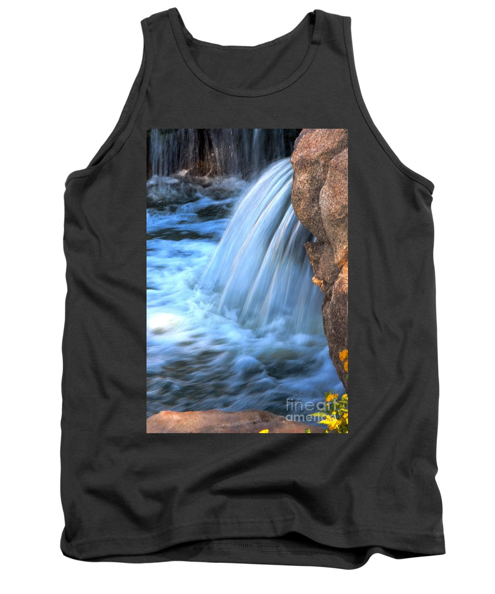 Waterfall Tank Top featuring the photograph First Light by Deb Halloran