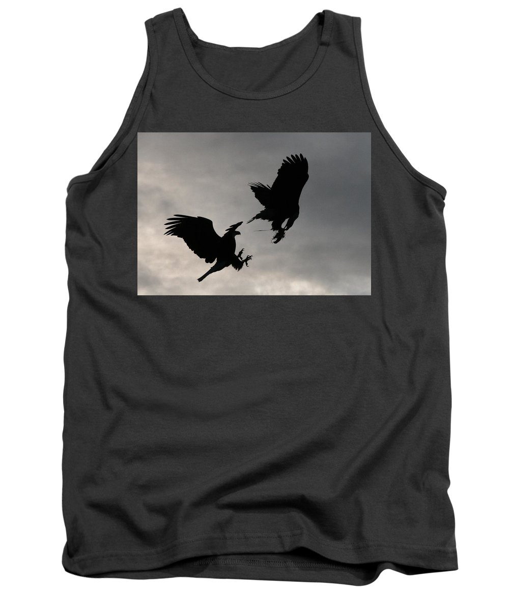 Eagle Tank Top featuring the photograph Food Fight by Karen Jones