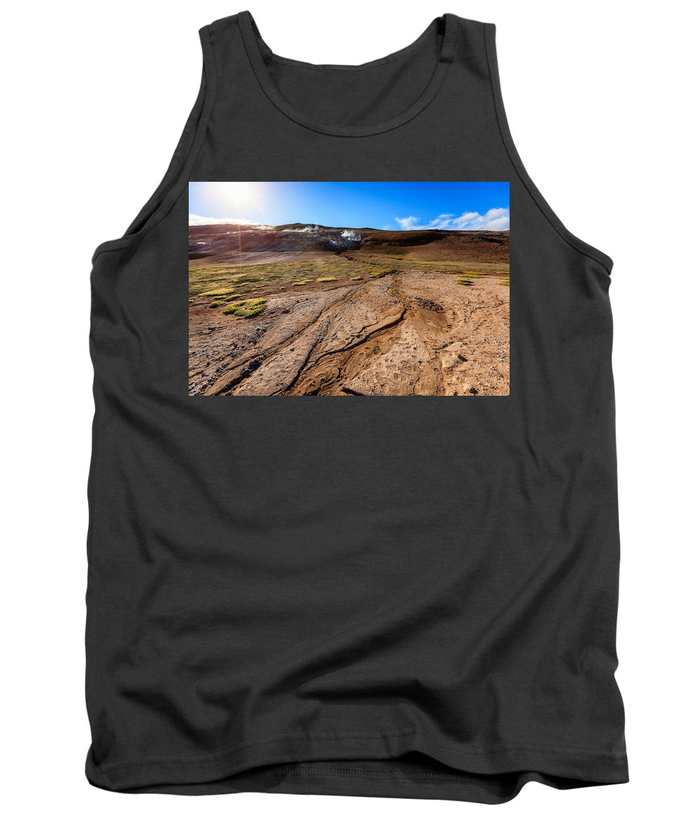 Europe Tank Top featuring the photograph Geothermal Field by Alexey Stiop