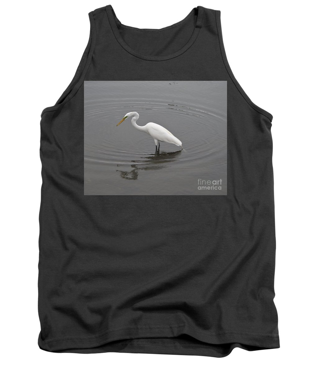 Great Tank Top featuring the photograph Great Egret Ardea Alba by Allan Hughes
