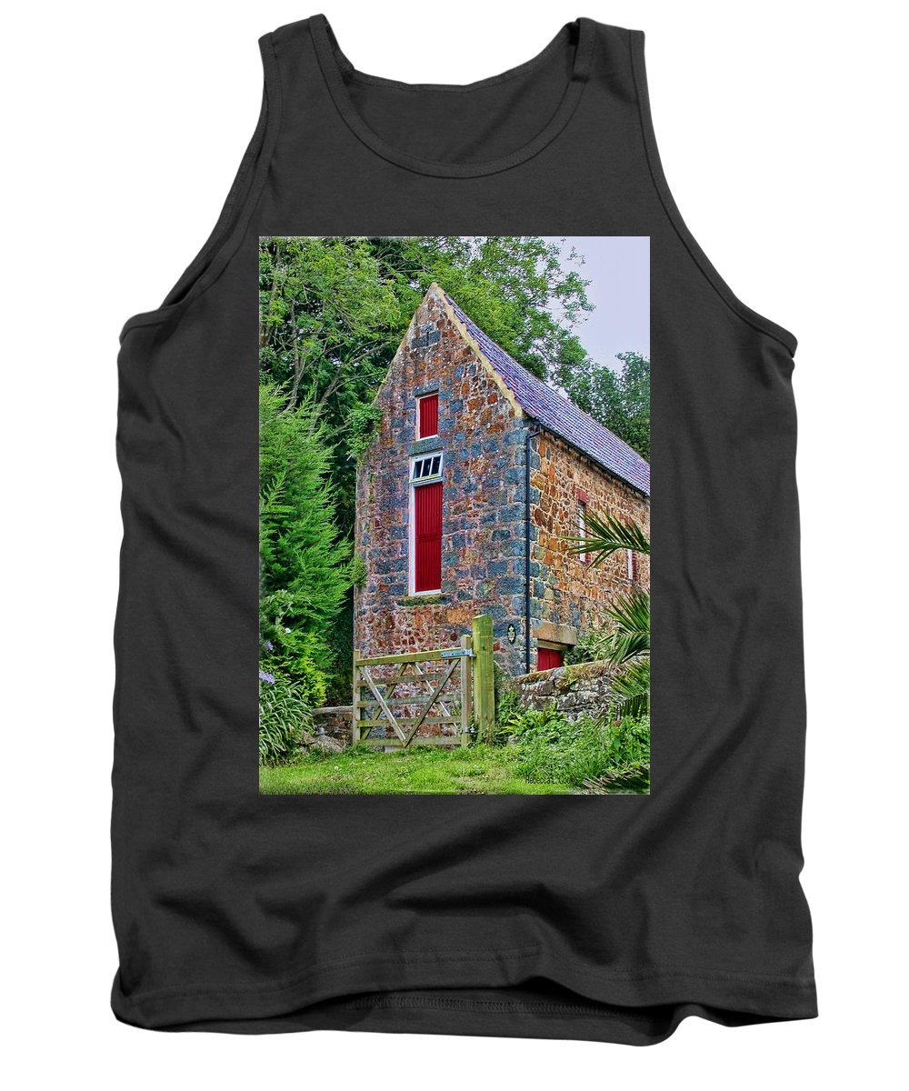 Isle Of Guernsey Tank Top featuring the photograph Guernsey Barn by Bellesouth Studio