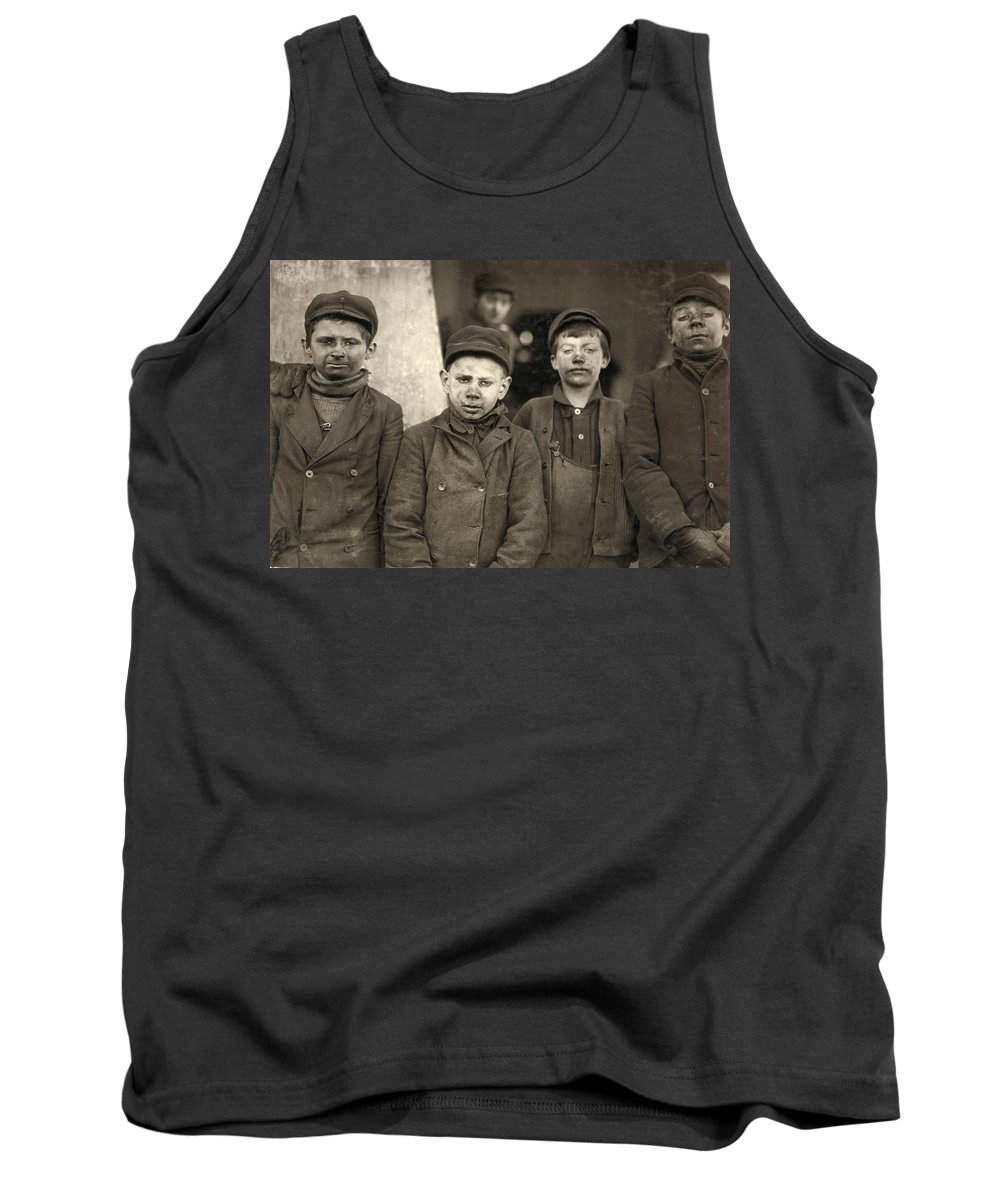 1911 Tank Top featuring the photograph Hine Breaker Boys, 1911 by Granger