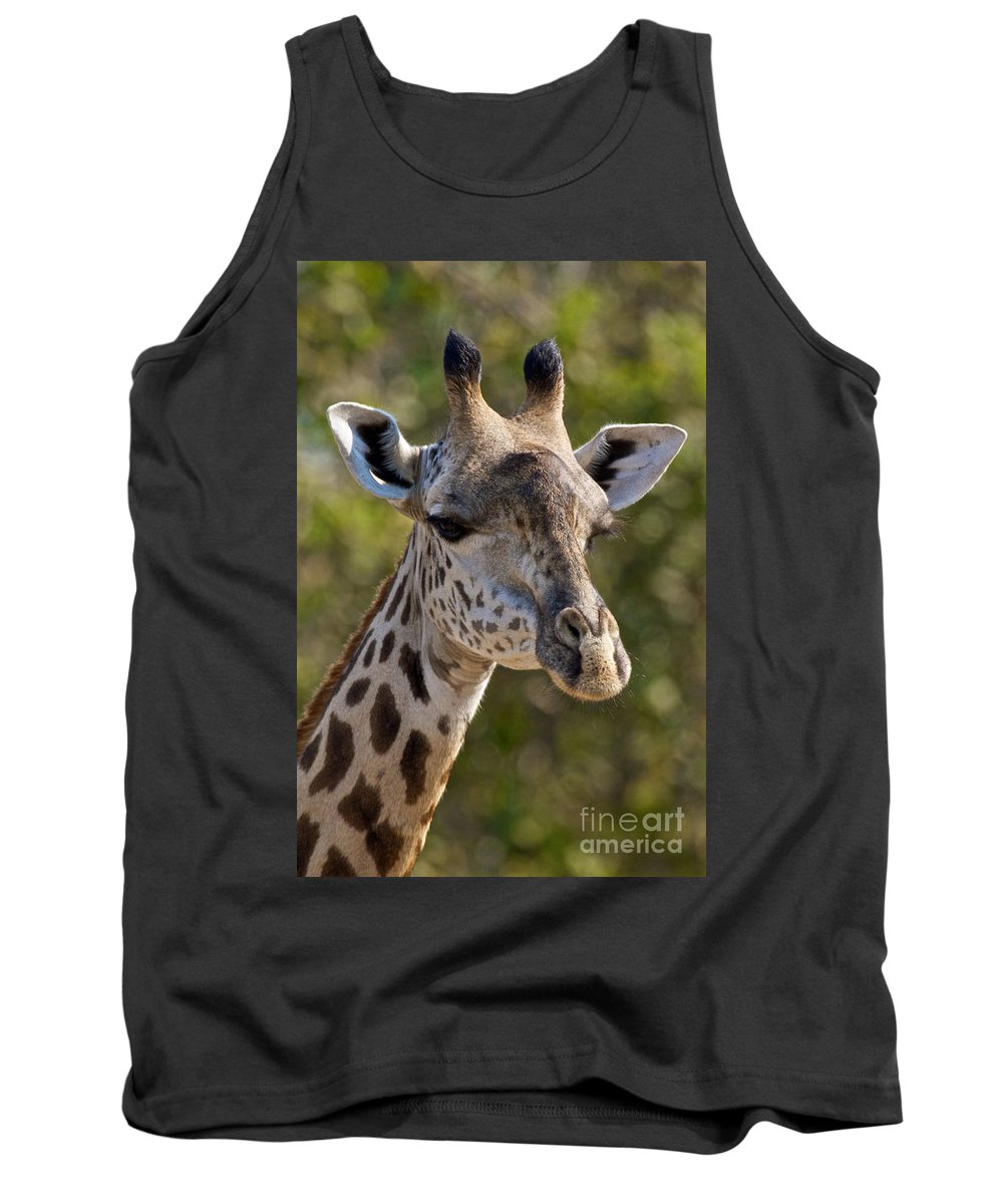 Giraffe Tank Top featuring the photograph I'm All Ears - Giraffe by D Hackett