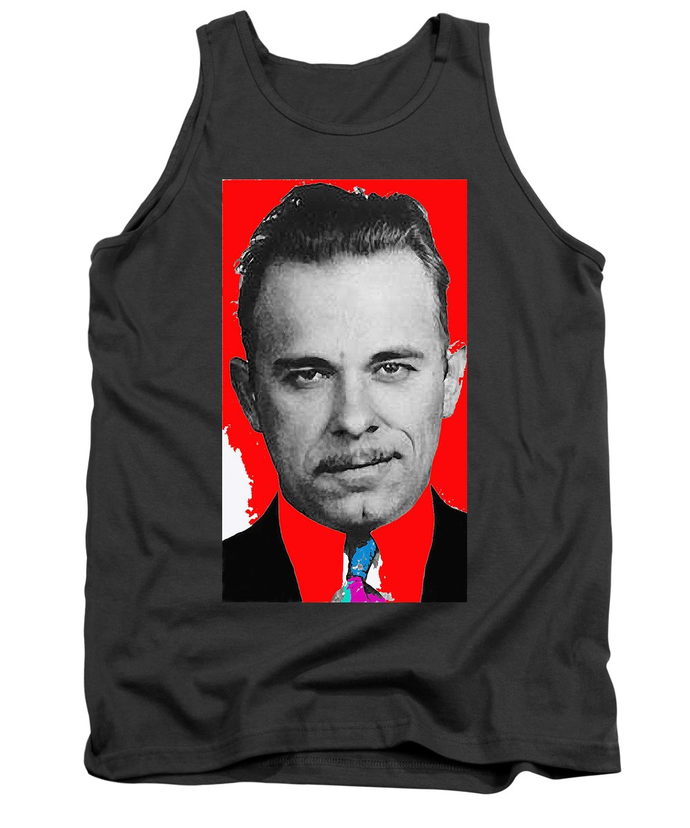 John Dillinger Mugshot January 25 1934 Taken By Tucson Police Department Tank Top featuring the photograph John Dillinger Mugshot January 25 1934 Taken By Tucson Police Department by David Lee Guss