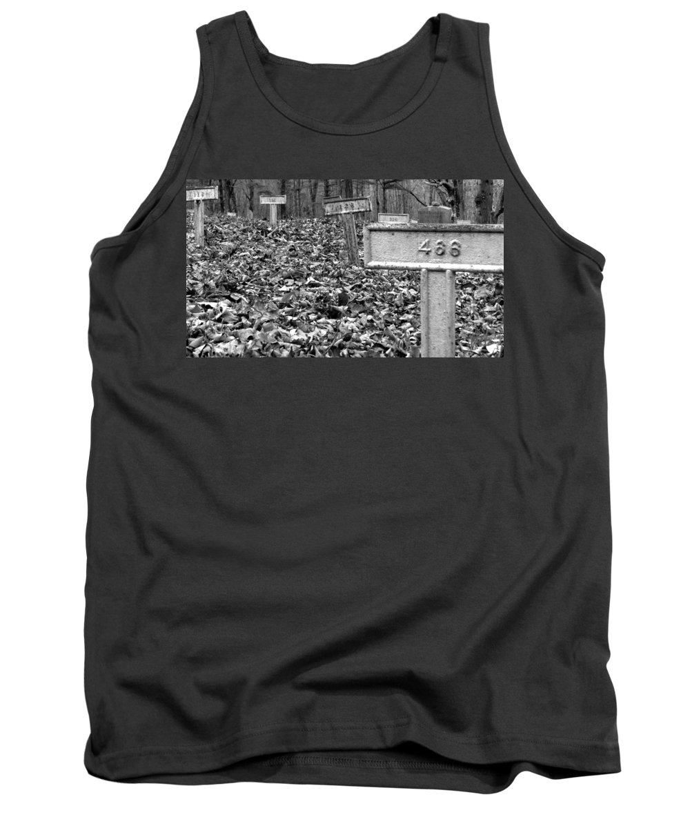 Grave Tank Top featuring the photograph Letchworth Village Cemetery by Art Dingo