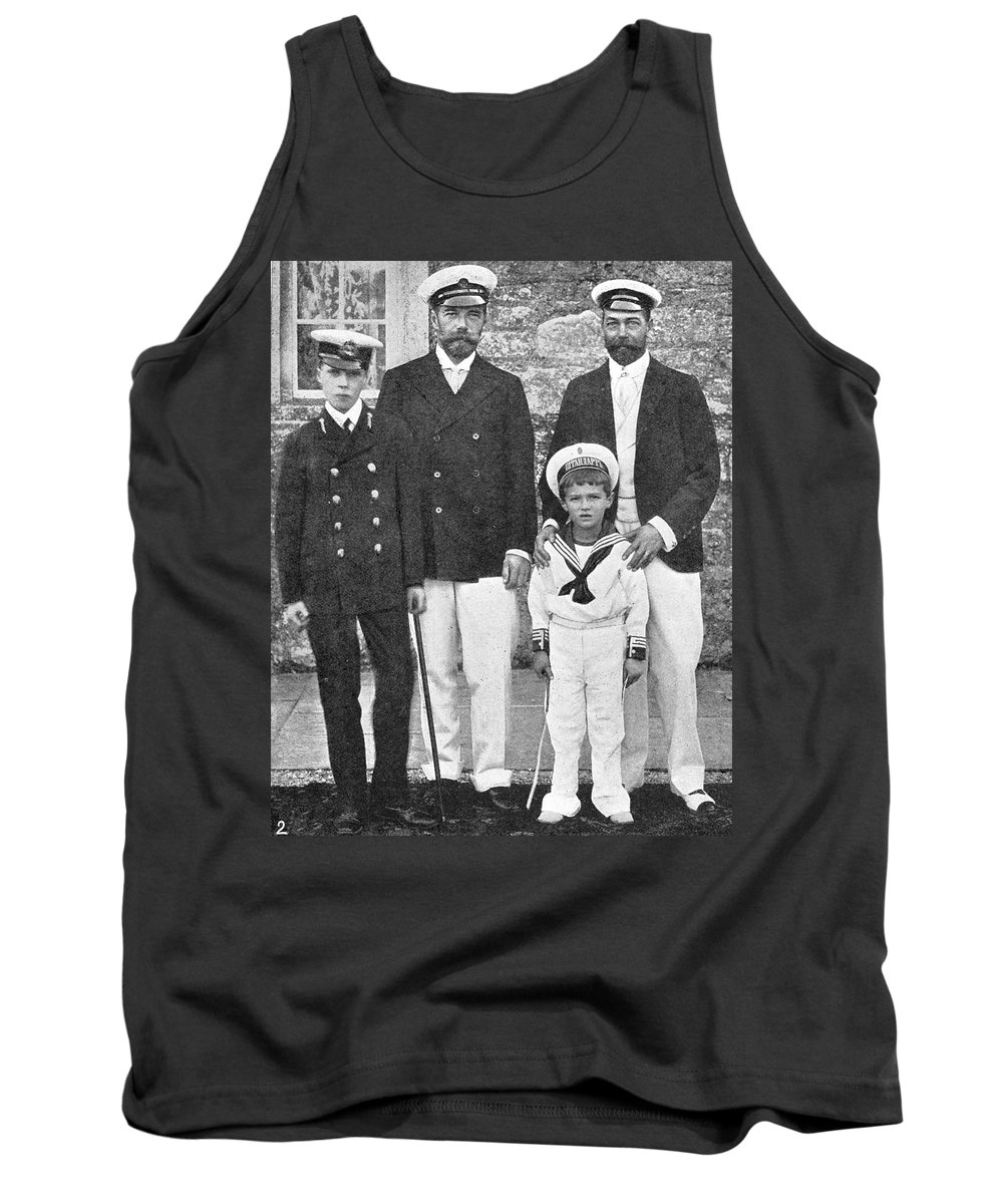 1909 Tank Top featuring the photograph Nicholas II & George V, 1909 by Granger