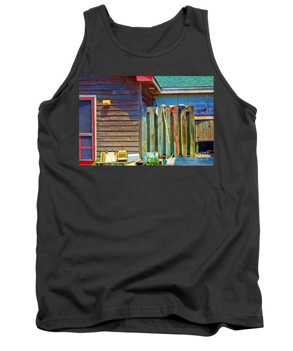 Building Tank Top featuring the photograph Out To Dry by Debbi Granruth
