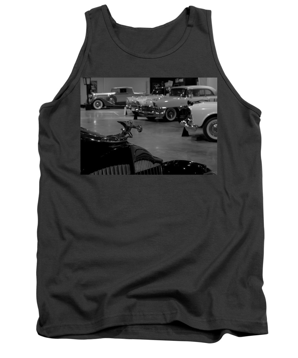 Museum Tank Top featuring the photograph Packards by David Dufresne