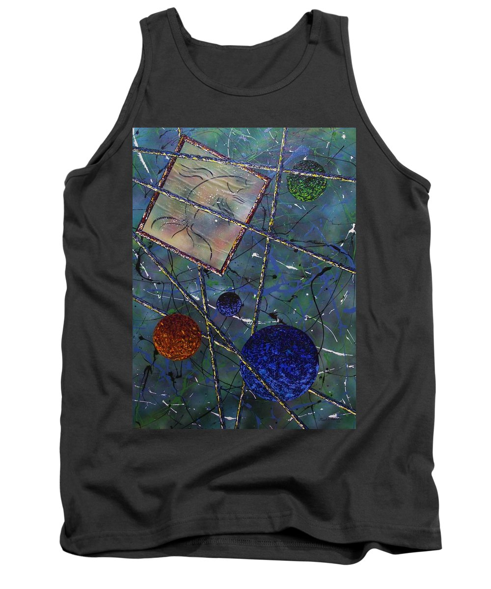 Fish Tank Top featuring the painting Pisces by Micah Guenther