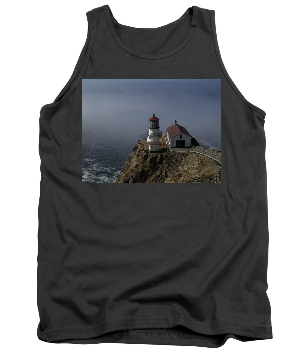 Pacific Ocean Tank Top featuring the photograph Pt Reyes Lighthouse by Bill Gallagher