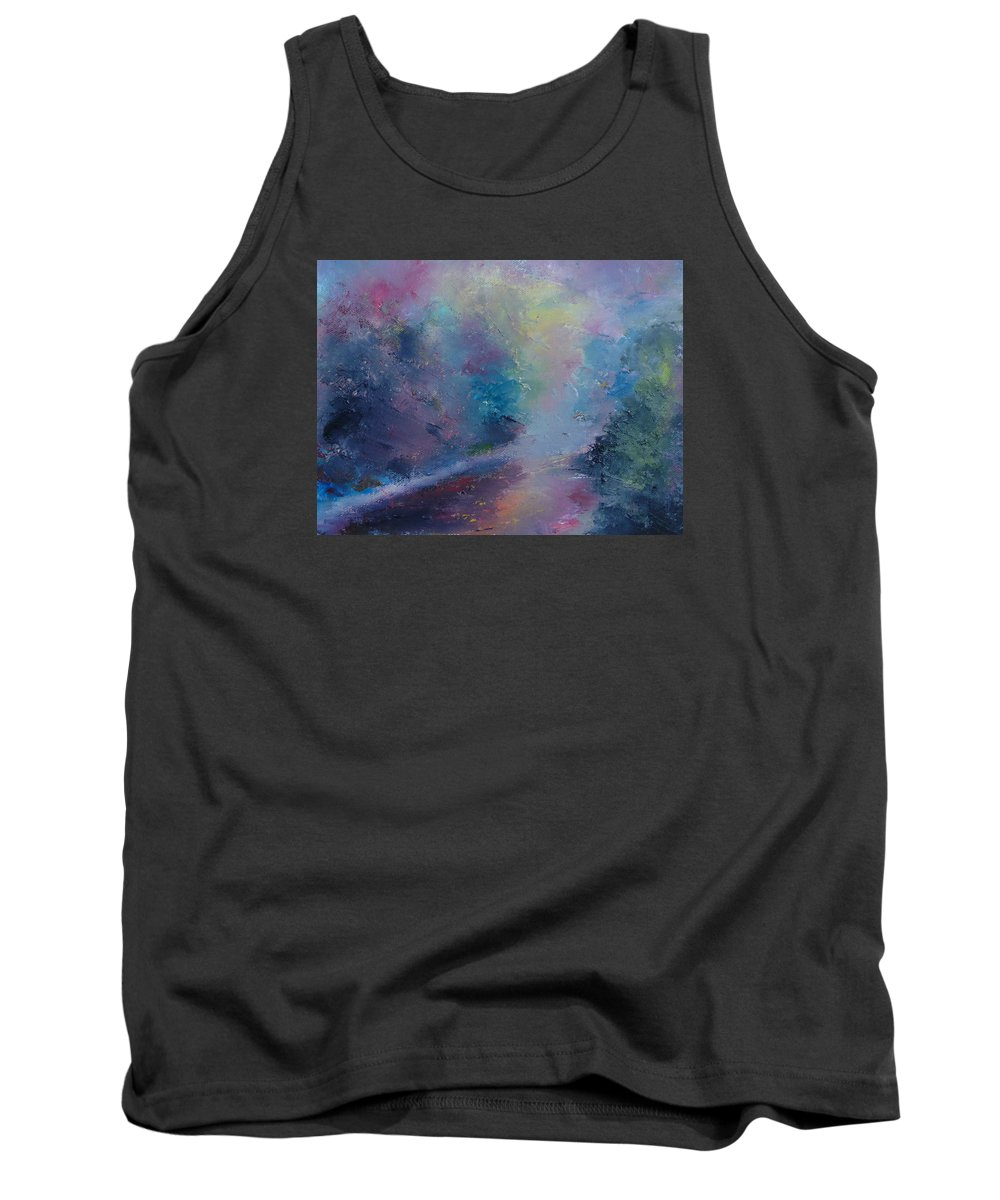 Landscape Tank Top featuring the painting Reflections by Pusita Gibbs