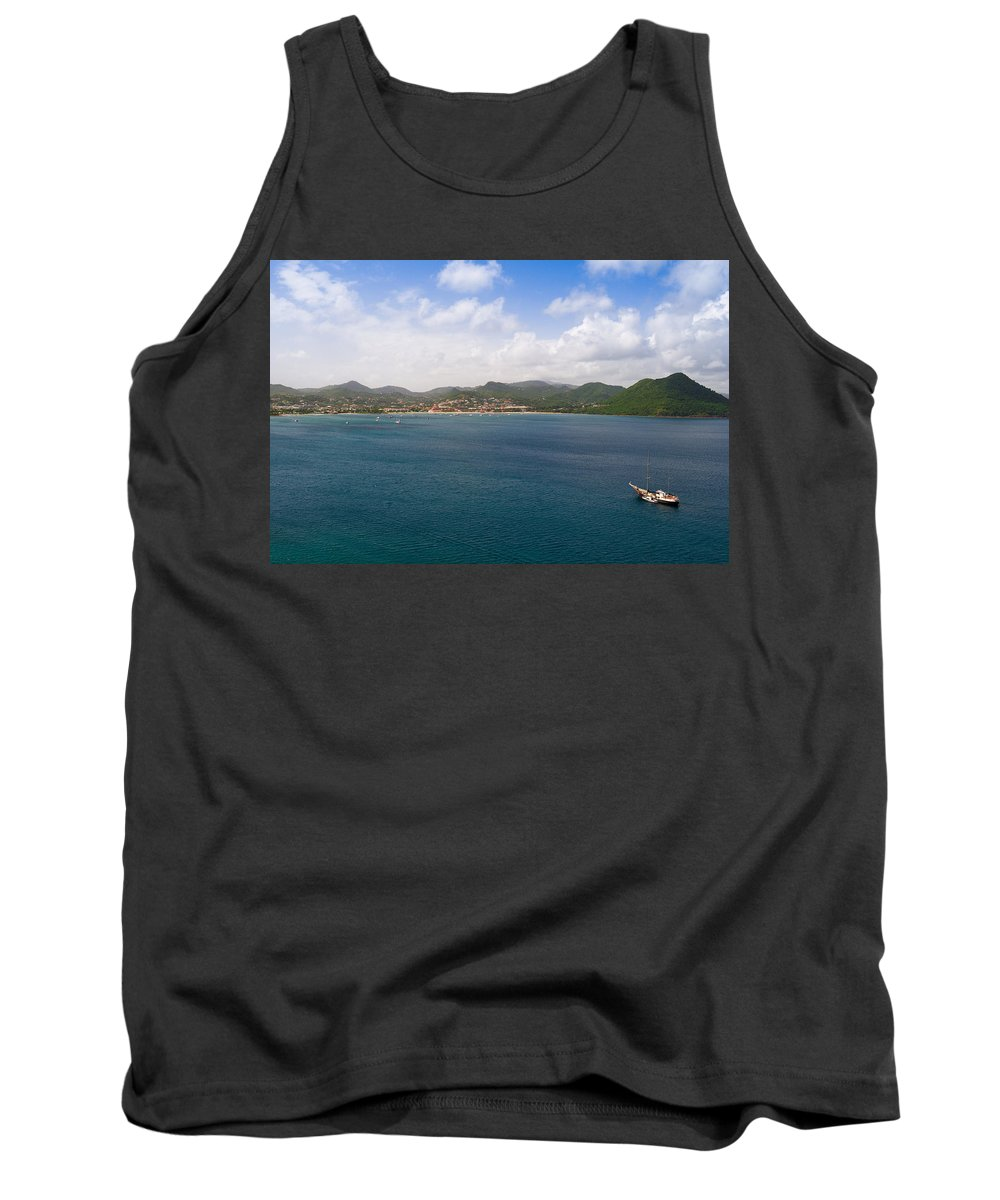 Landscape Tank Top featuring the photograph Rodney Bay St. Lucia by Ferry Zievinger