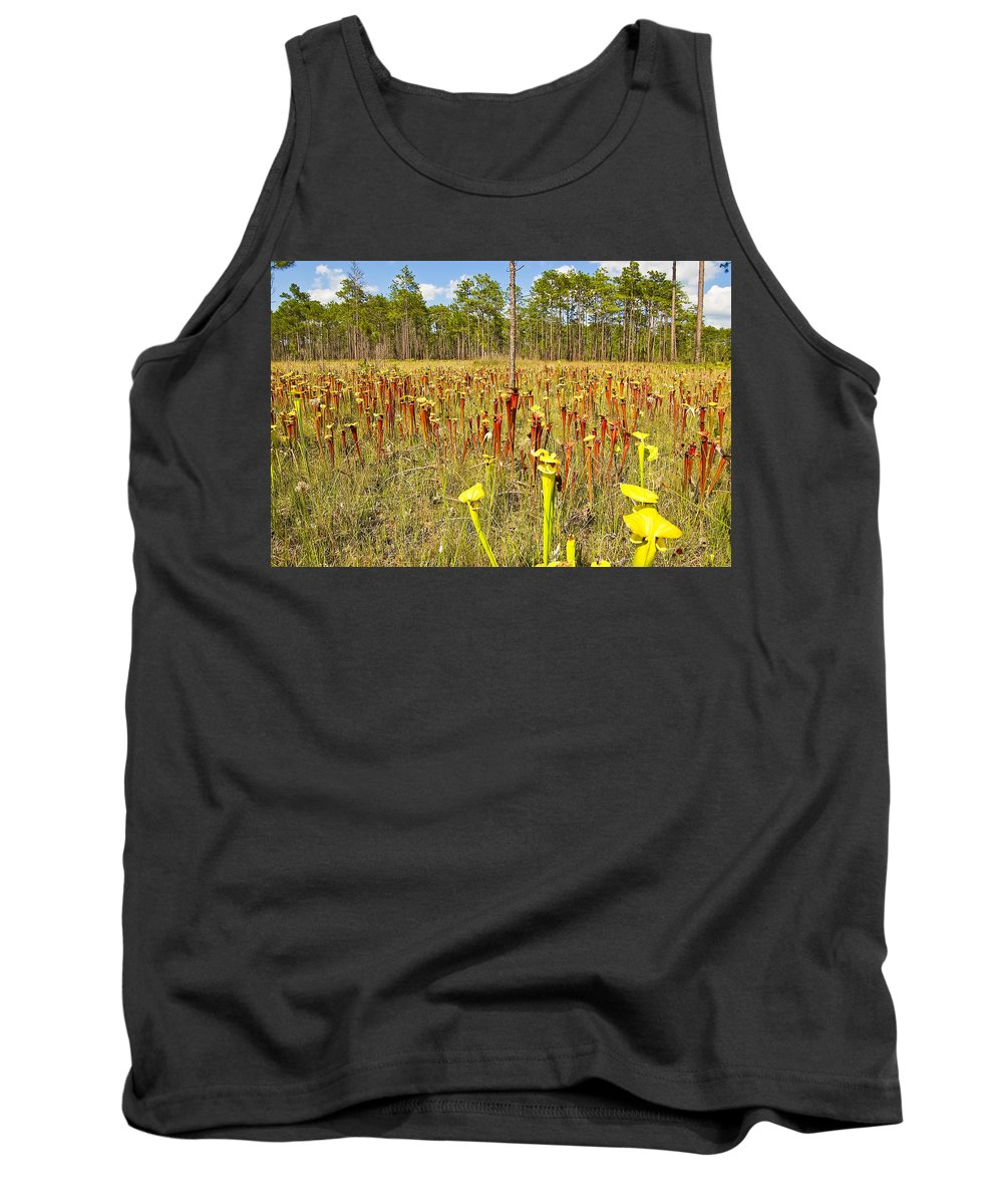 Gulf County Tank Top featuring the photograph Schnell's Pitcher Plant by Rich Leighton