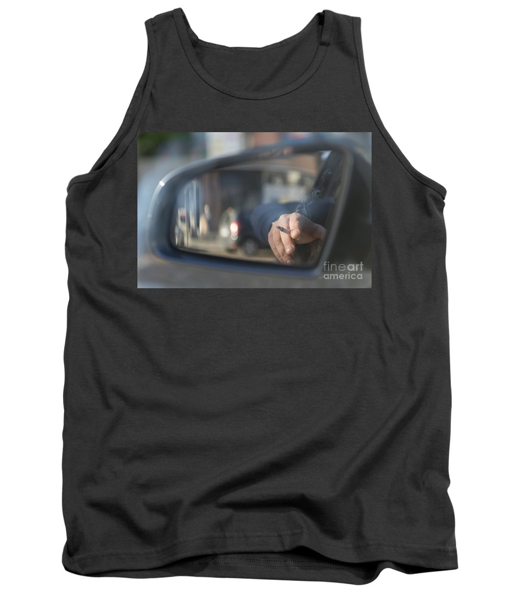 Hand Tank Top featuring the photograph Smoking by Mats Silvan