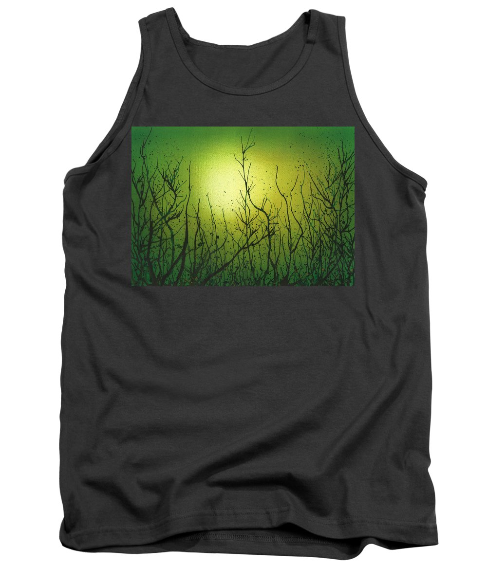 Abstract Tank Top featuring the painting Spring by Emma Childs