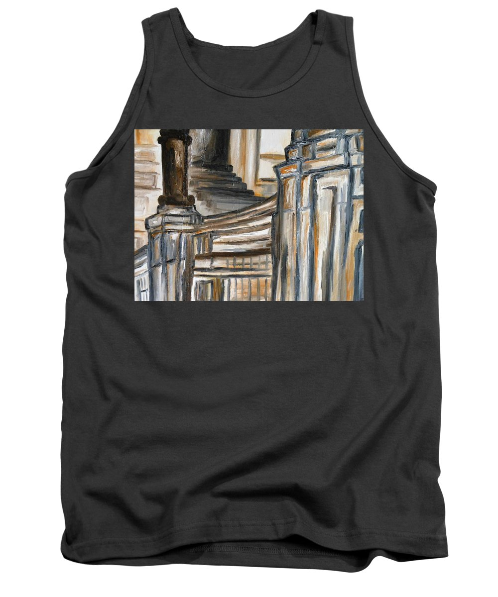 Paintings By Lyle Tank Top featuring the painting Steps by Lord Frederick Lyle Morris