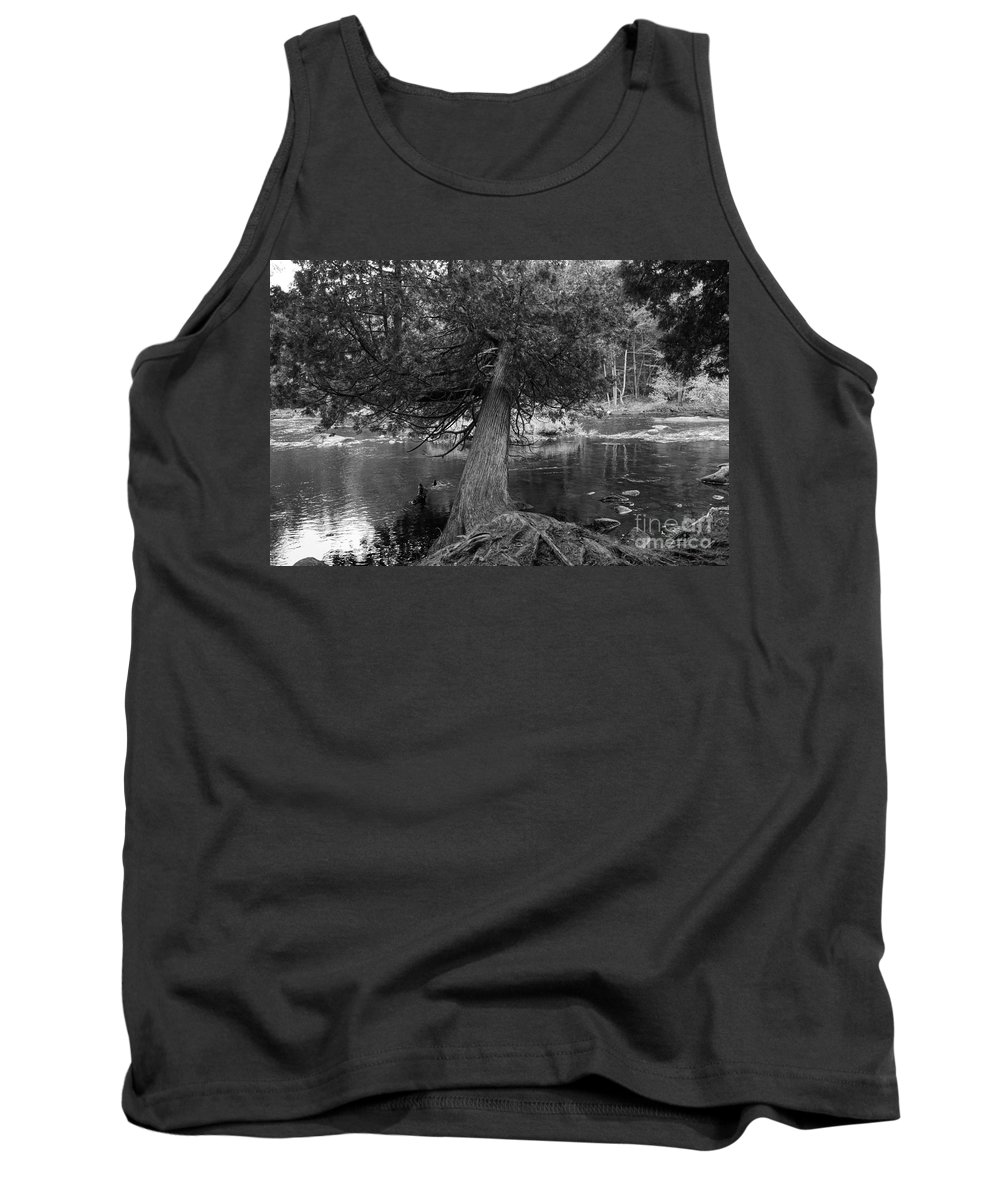 Trees Tank Top featuring the photograph Still Hanging On by Jeffery L Bowers