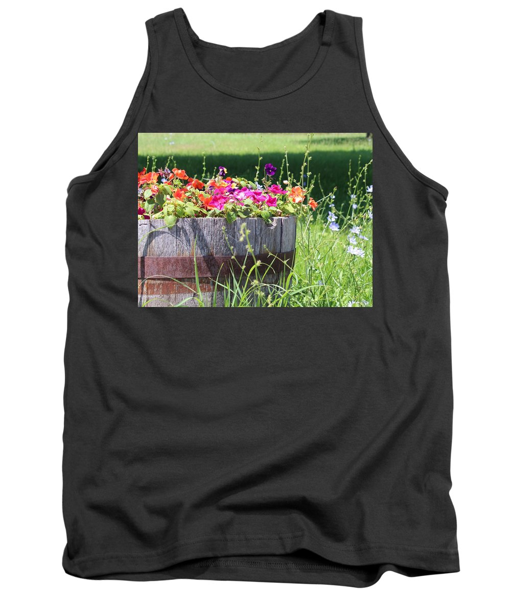 Wooden Pot Tank Top featuring the photograph Summer Garden by Kume Bryant
