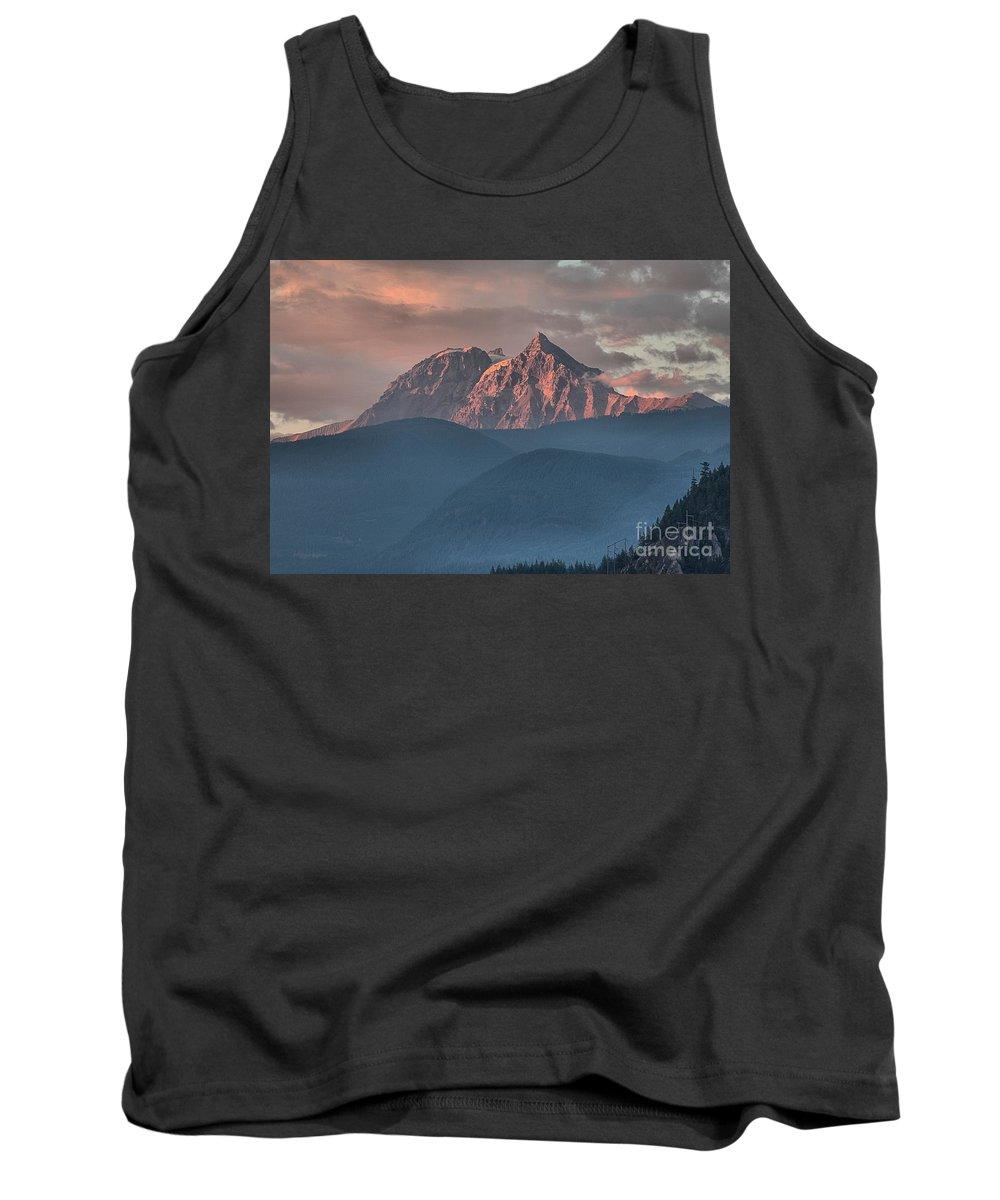 British Columbia Sunset Tank Top featuring the photograph Tantalus Mountain Sunset - British Columbia by Adam Jewell