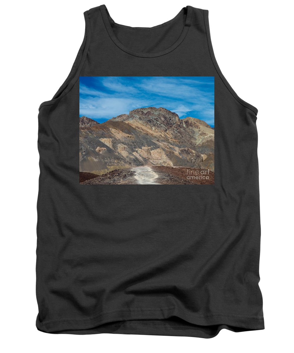 Painted Tank Top featuring the photograph The Blues by Stephen Whalen