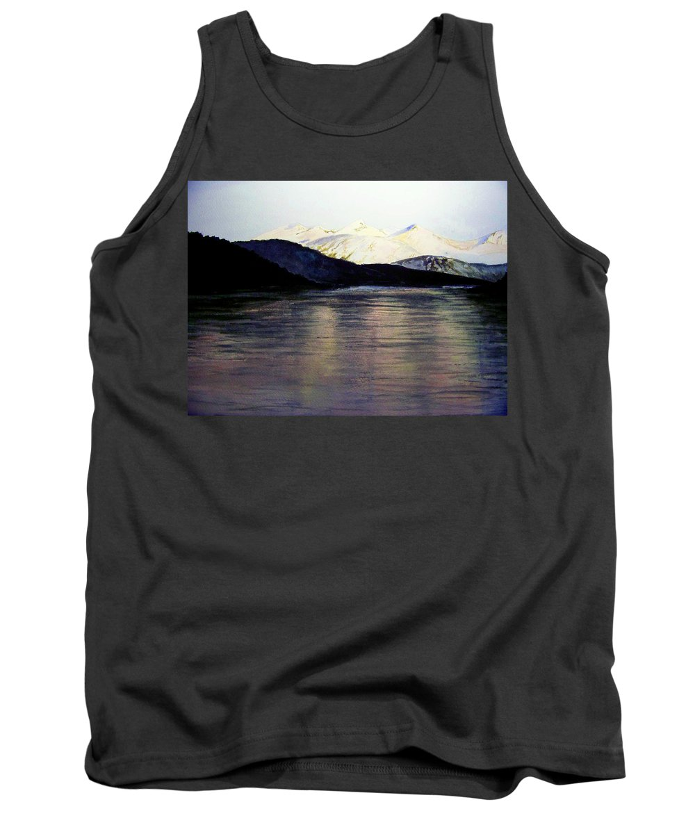 Watercolor Tank Top featuring the painting The Deepening Day by Brenda Owen