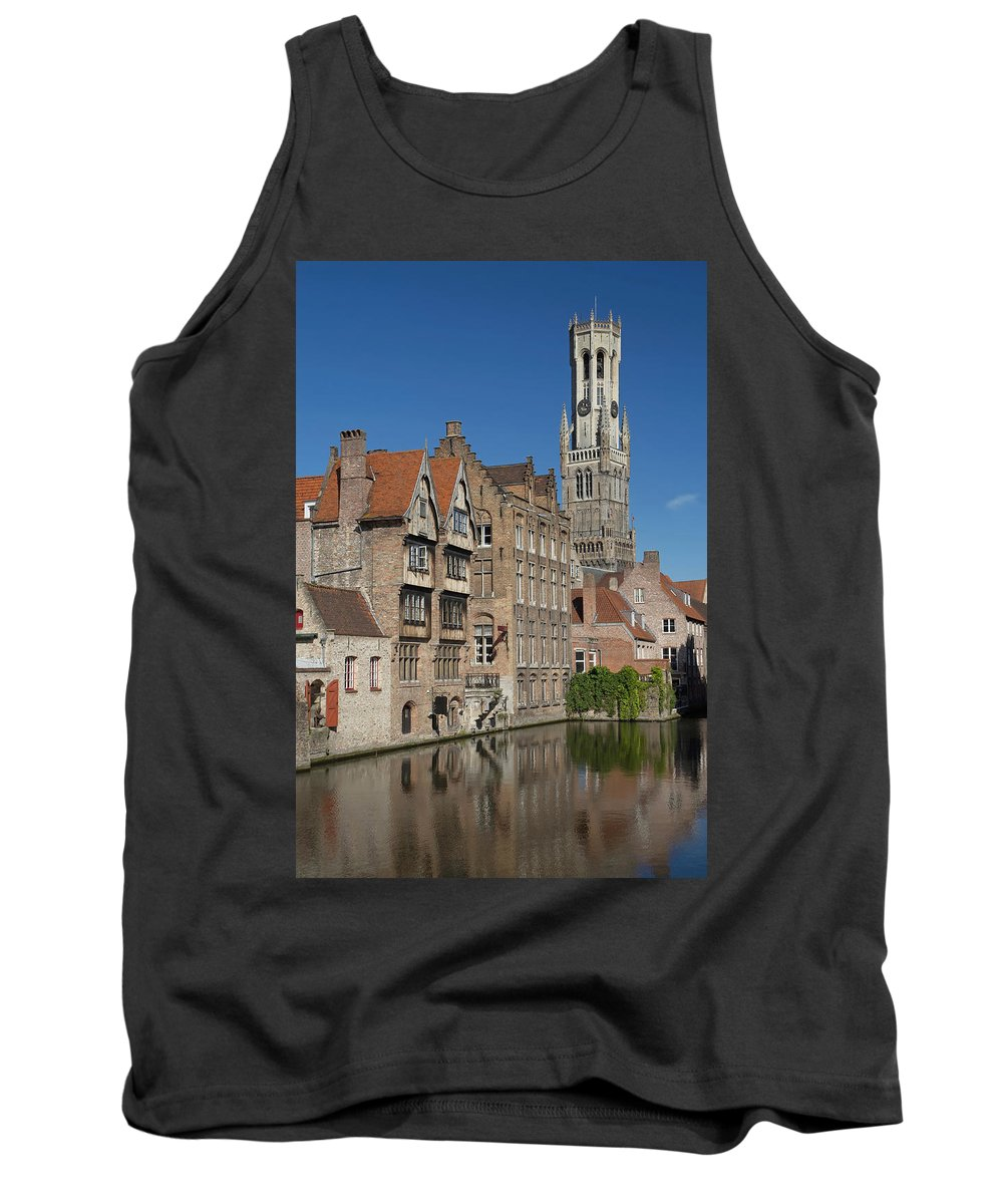 Tourism Tank Top featuring the photograph The Historic Center Of Bruges by Jaroslav Frank