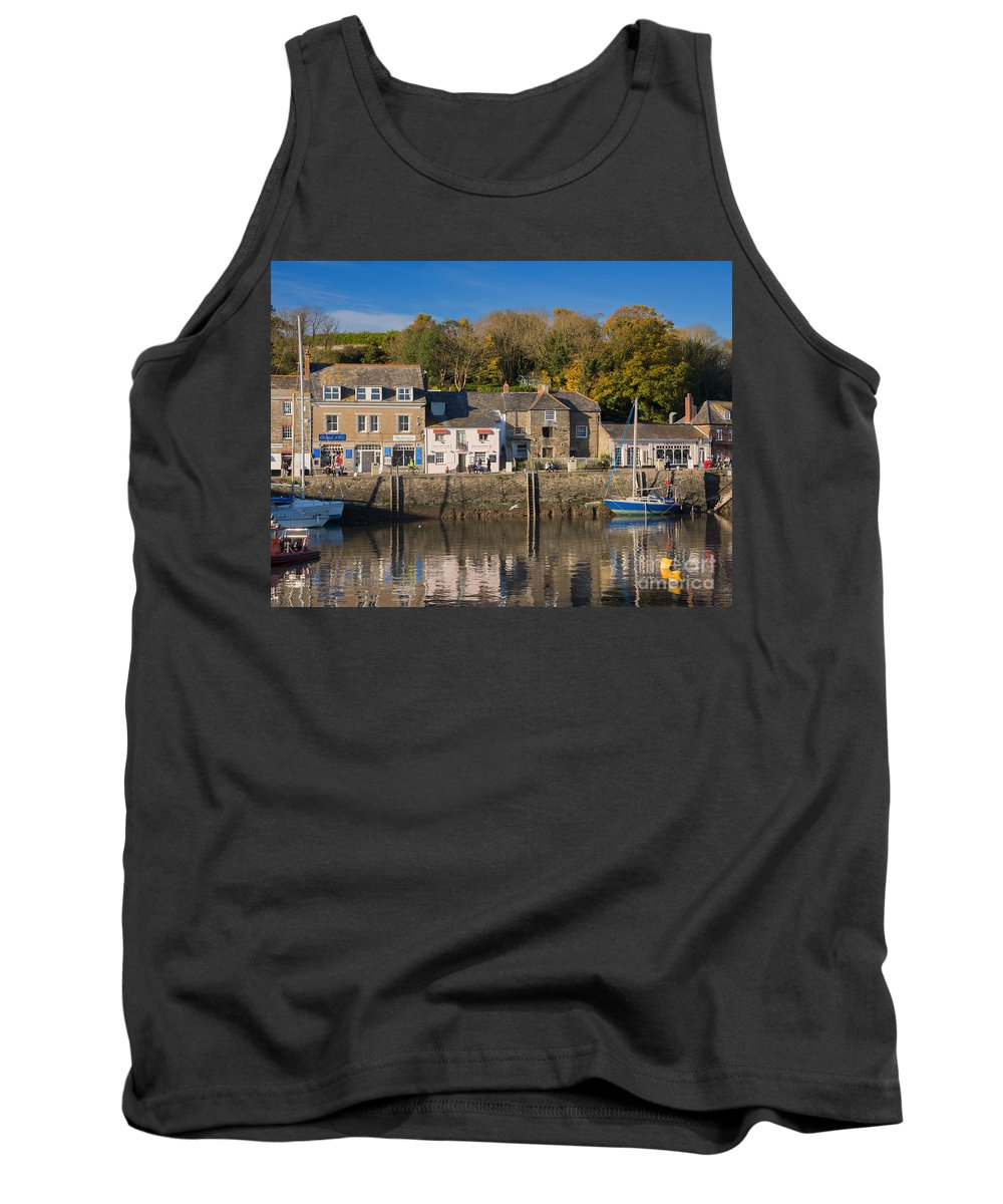 Padstow Tank Top featuring the photograph The Inner Harbour At Padstow by Louise Heusinkveld