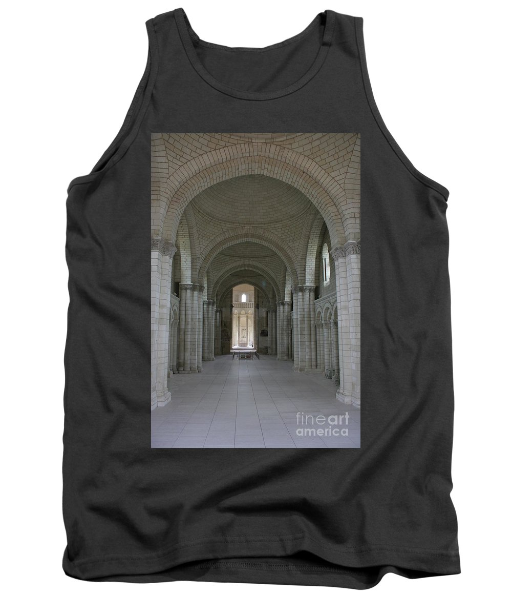 Nave Tank Top featuring the photograph The Nave - Cloister Fontevraud by Christiane Schulze Art And Photography