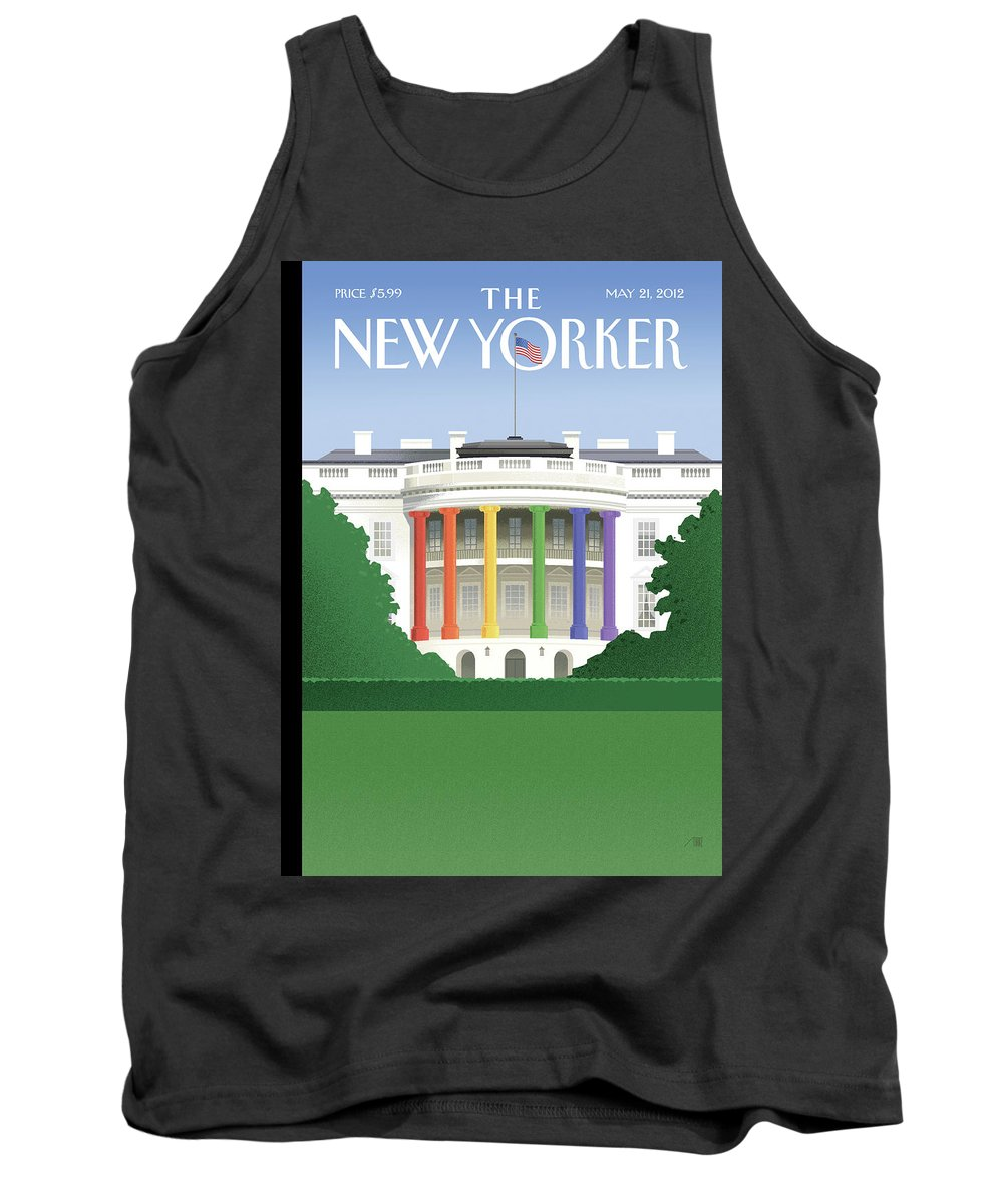President Tank Top featuring the painting Spectrum Of Light by Bob Staake