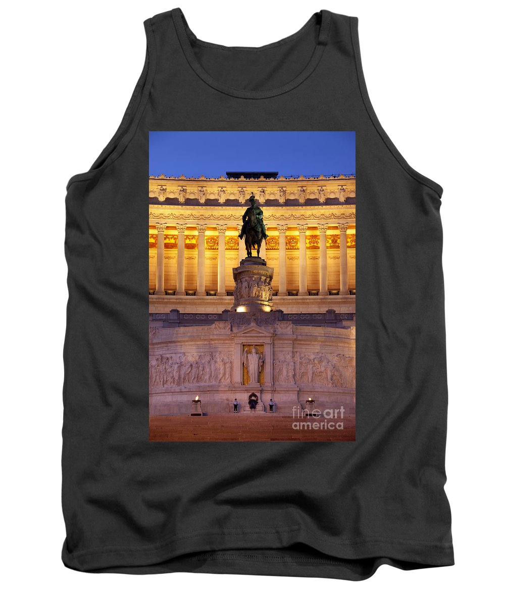 Vittorio Emanuele Tank Top featuring the photograph Vittorio Emanuele - Rome by Brian Jannsen