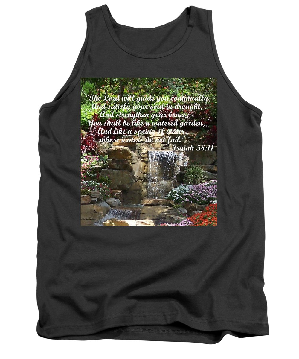Inspirational Tank Top featuring the photograph Watered Garden by Pharris Art
