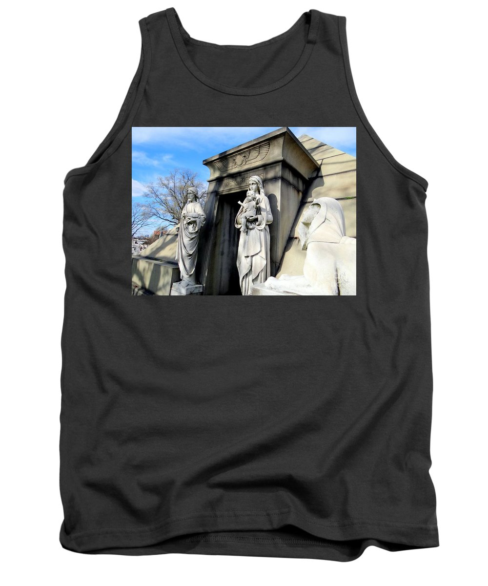 Mausoleum Tank Top featuring the photograph Welcome by Ed Weidman