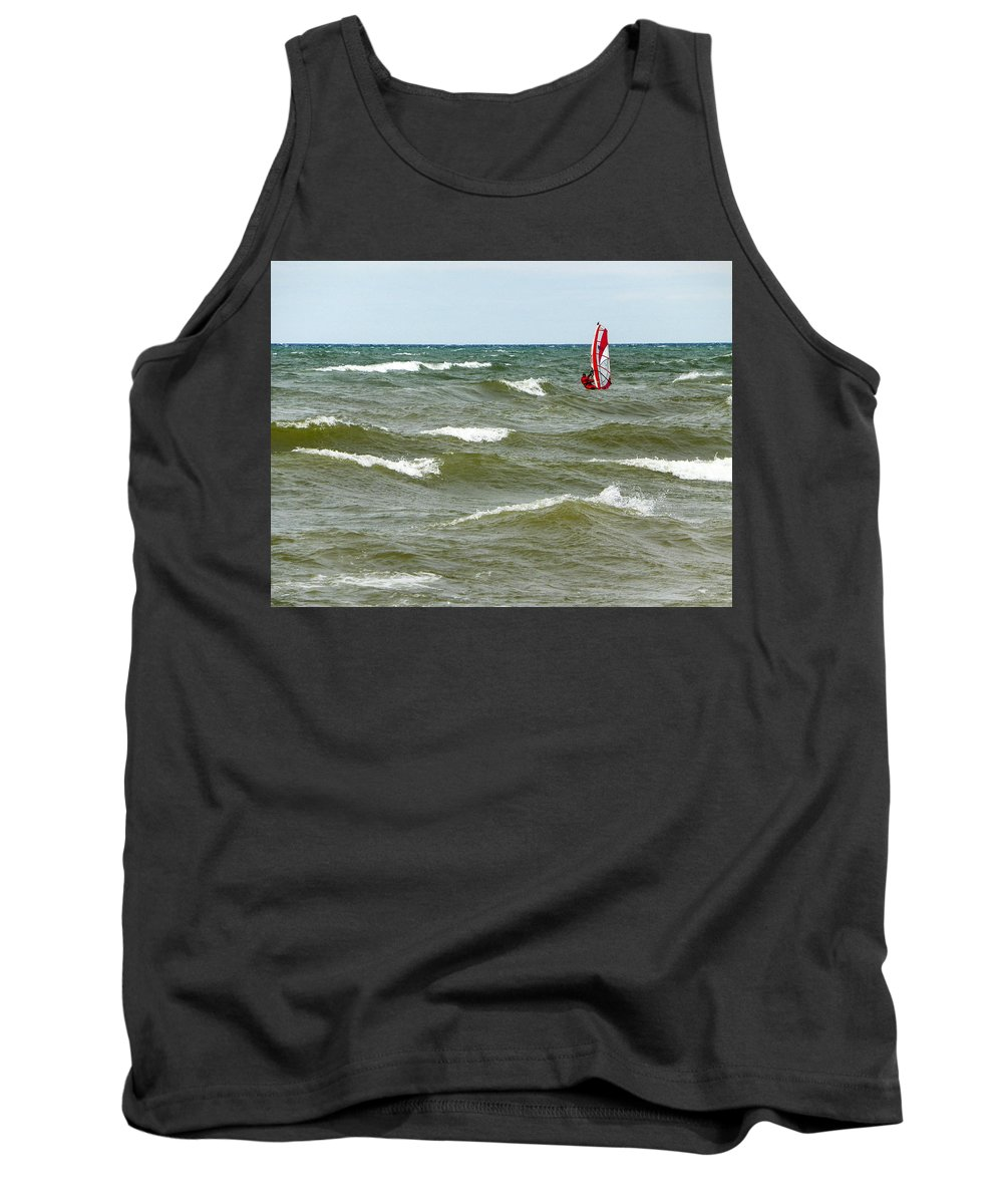 Windsurfing Tank Top featuring the photograph Wind Surfing by Lou Cardinale