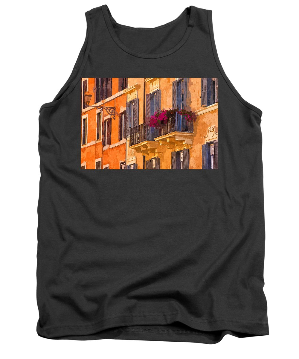 Rome Tank Top featuring the photograph Window Boxes by David Pringle