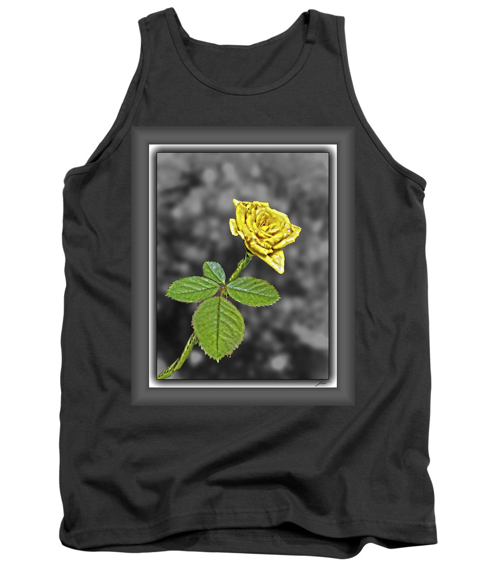 Flowers Tank Top featuring the photograph Yellow Rose by Thomas Fields